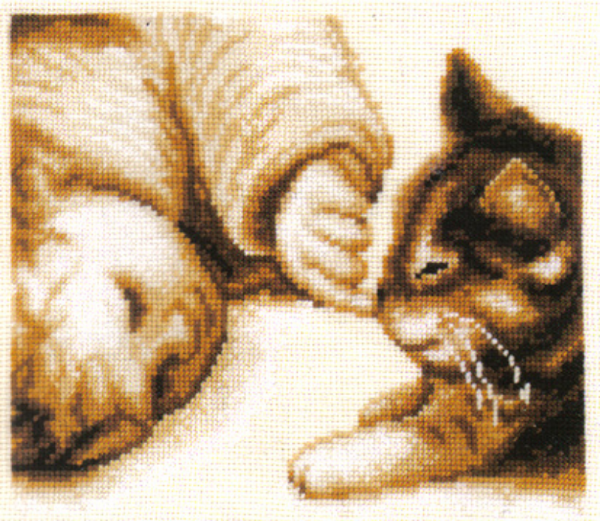 Cute Kitten Nose Sepia Cross Stitch Kit